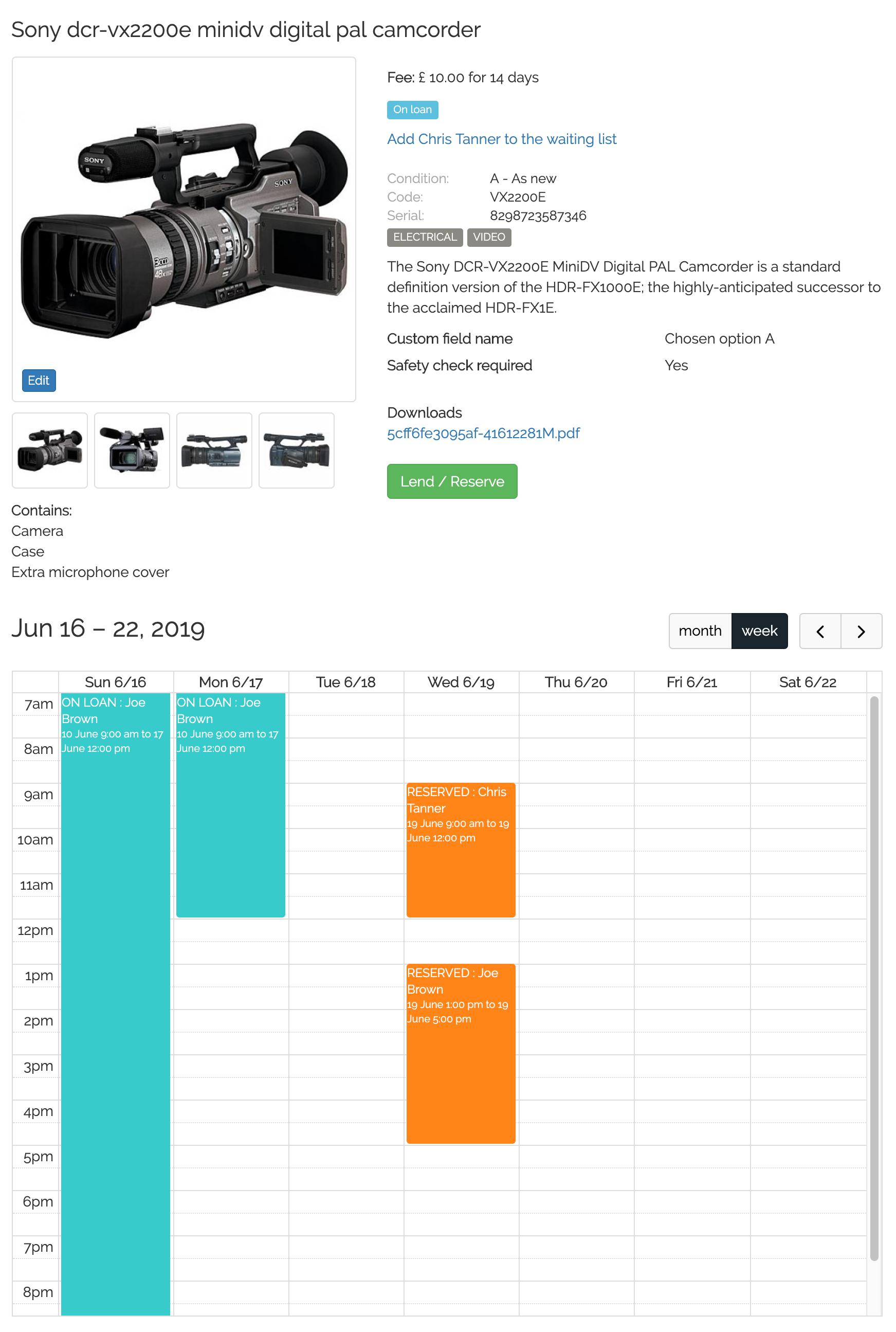 Camera and AV equipment lending software : Lend Engine